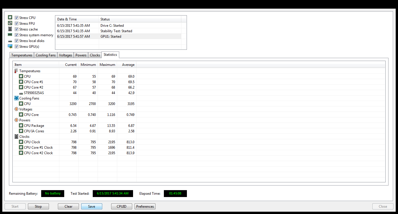 AIDA64 Test Result on a Laptop (Asus K43SJ) - Benchmarking