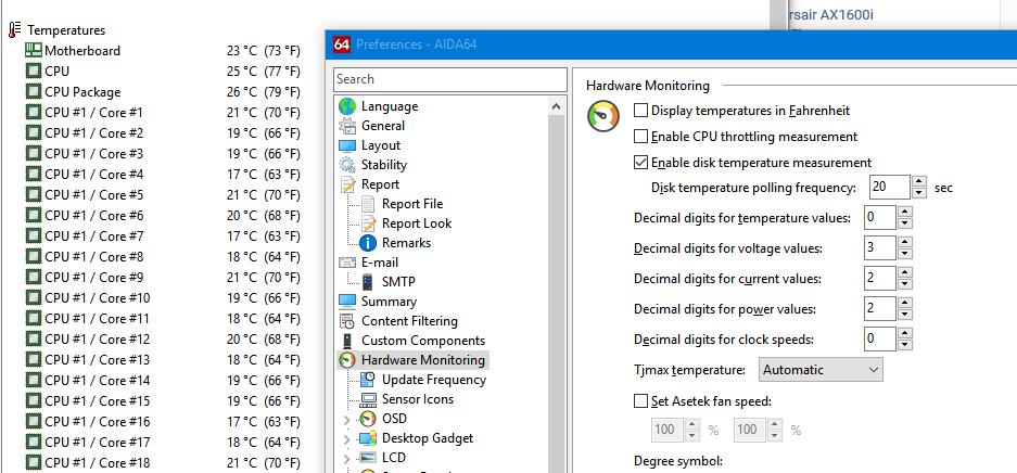 Fahrenheit temperature - Hardware monitoring - AIDA64 Discussion Forum