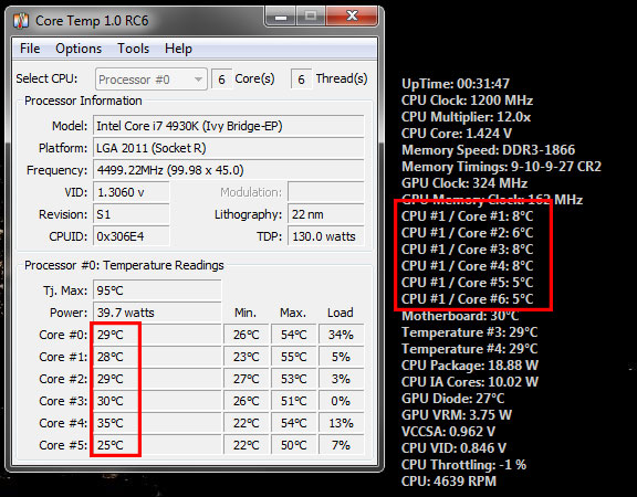 Too low CPU Core Temp (4930K) - Bug reports - AIDA64
